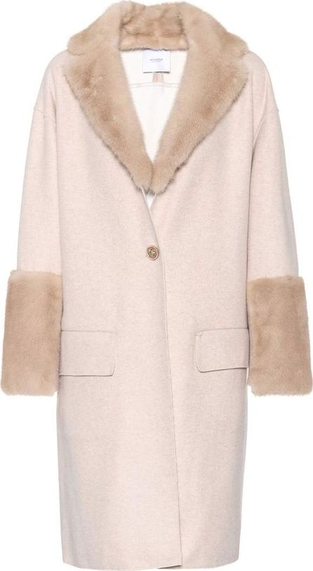 Agnona Mink-trimmed cashmere coat