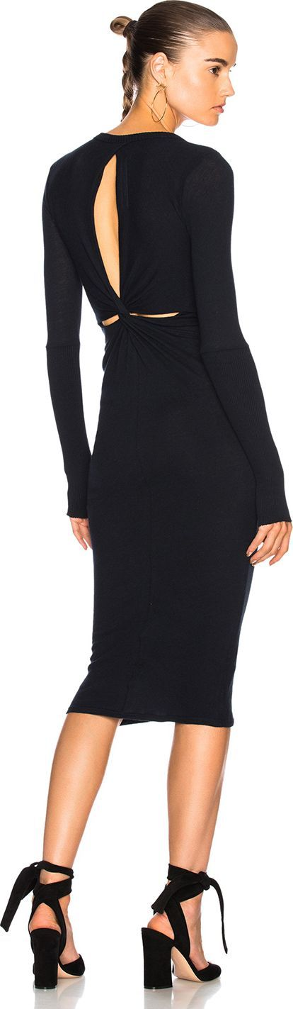 ENZA COSTA Back Drape Dress