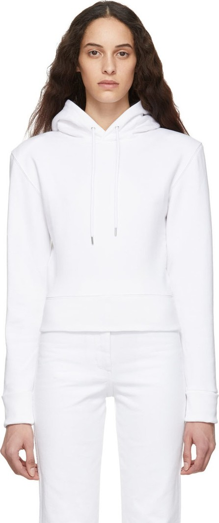 A_Plan_Application White Fitted Hoodie