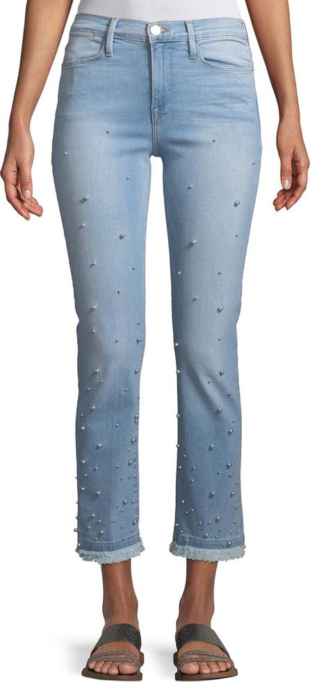 FRAME DENIM Le High Pearl Straight-Leg Cropped Jeans
