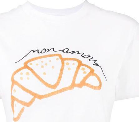 Ganni Moulin croissant print t-shirt