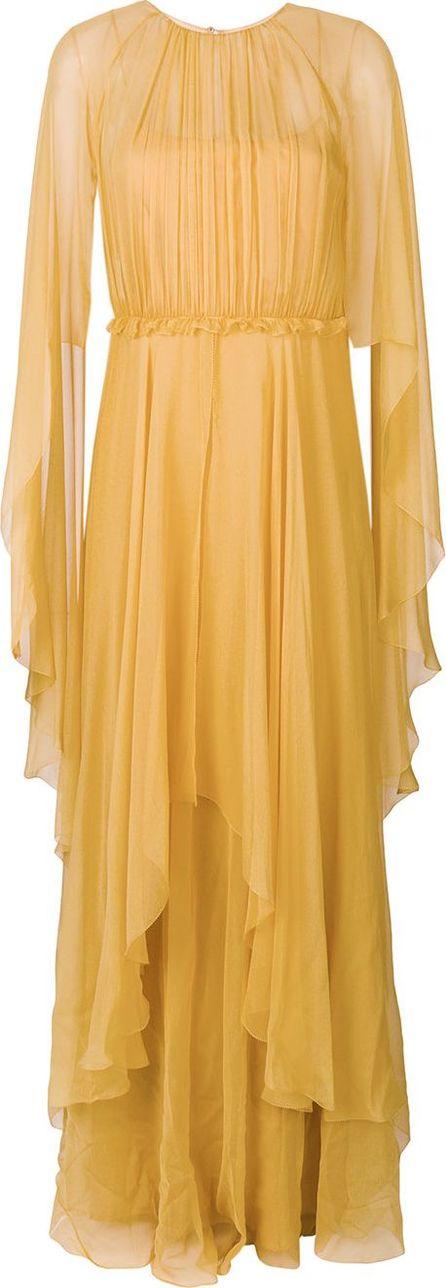 Alberta Ferretti ruffled evening dress