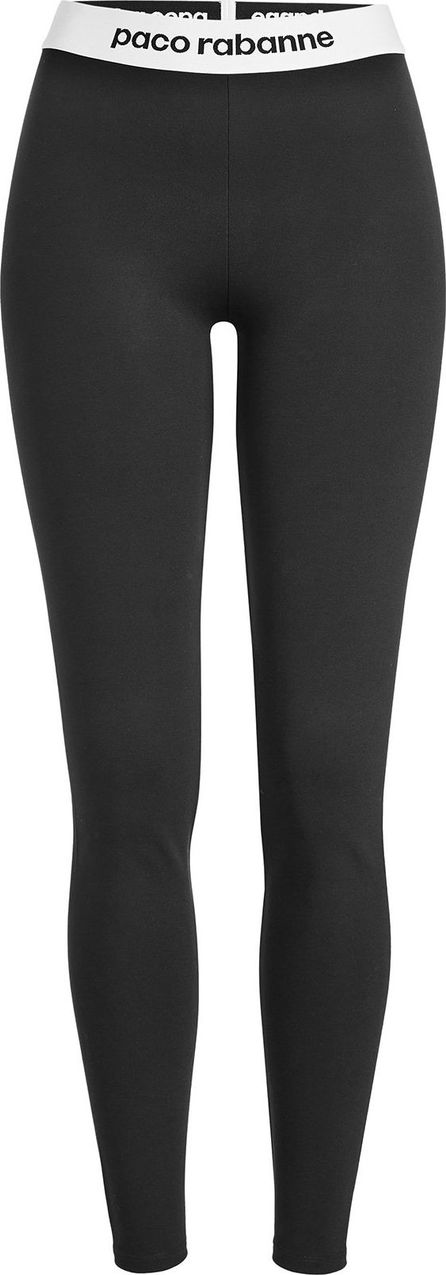 Paco Rabanne Jersey Leggings with Logo Waistband