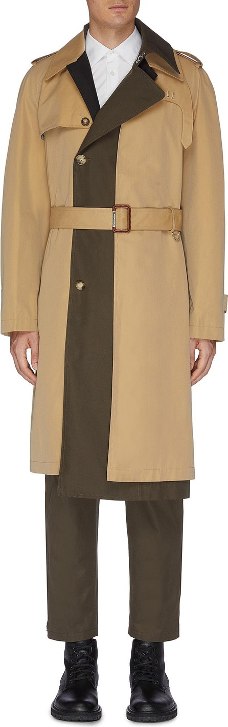 Alexander McQueen Asymmetric tailored trench coat