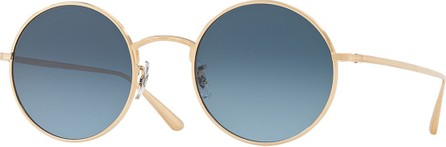Oliver Peoples After Midnight Round Metal Sunglasses