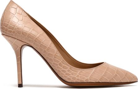 Dolce & Gabbana Croc-effect leather pumps