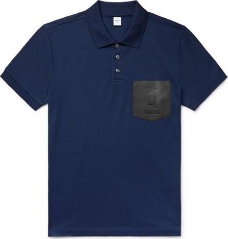 Berluti Slim-Fit Leather-Trimmed Cotton-Piqué Polo Shirt
