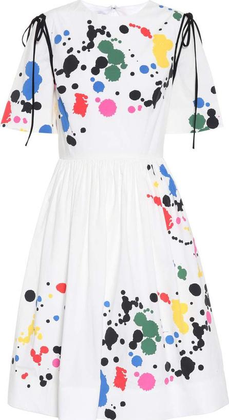 Oscar De La Renta Printed stretch cotton dress