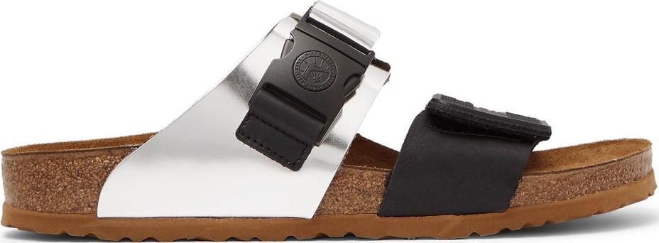 41a8d7953d1b Rick Owens + Birkenstock Rotterdam Metallic Leather and Rubber Sandals