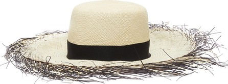 Gigi Burris 'Beachcomber' dégradé fringe edge Panama straw hat
