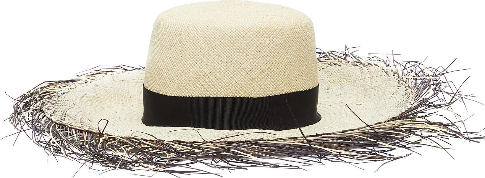 6e3c30a9eff6b Gigi Burris  Beachcomber  dégradé fringe edge Panama straw hat - Mkt