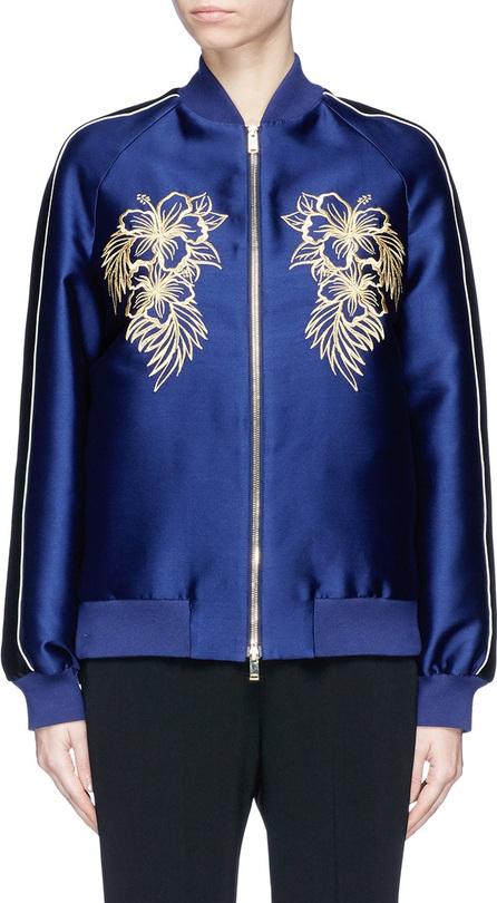 Stella McCartney 'Lorinda' graphic embroidered satin bomber jacket