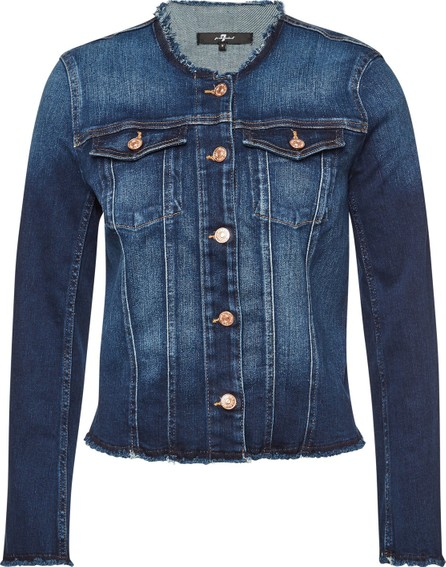 7 For All Mankind Denim Jacket with Distressed Detail