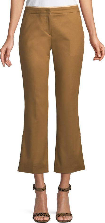 Nº21 Cropped Flared Cotton Pants