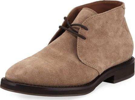 Brunello Cucinelli Men's Suede Desert Boot, Gray