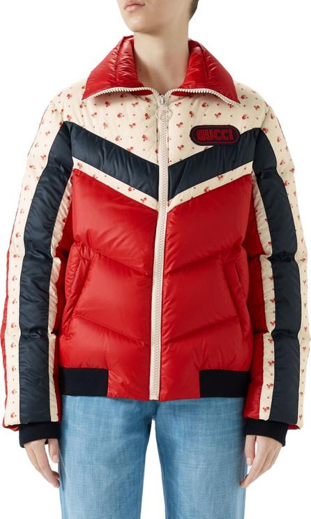 Gucci Floral & Stripe Puffer Jacket