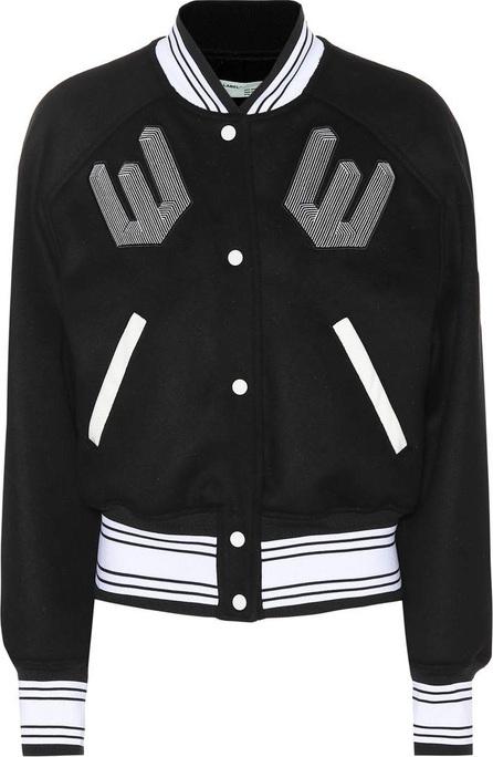 Off White Wool-blend varsity jacket