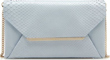 Lanvin Pochette Blue Leather Clutch