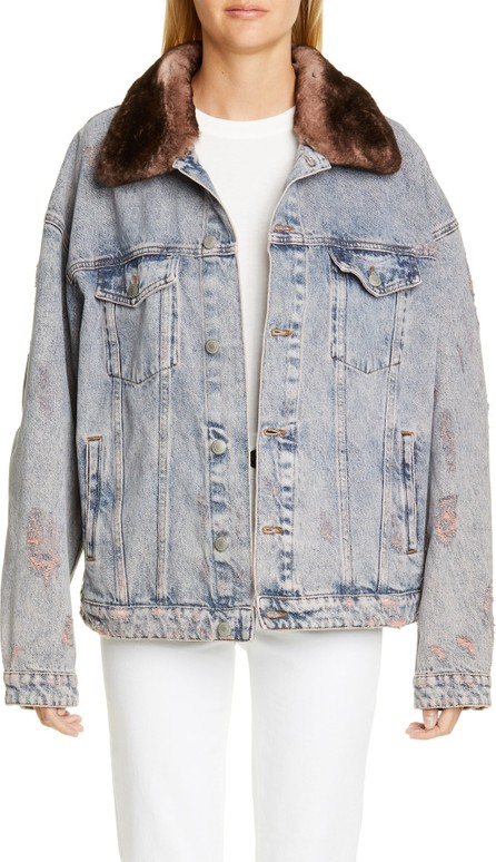 Alchemist Rocky Denim Jacket with Genuine Orylag<sup>® Rabbit Fur Trim