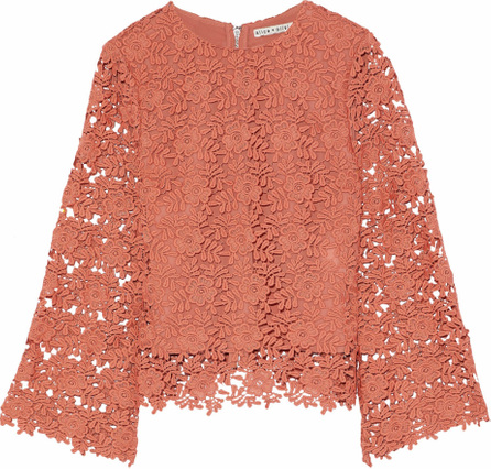 Alice + Olivia Pasha guipure lace top