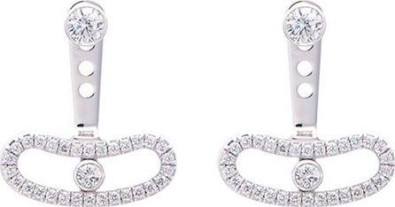 Messika 'Move Uno' diamond 18k white gold earrings