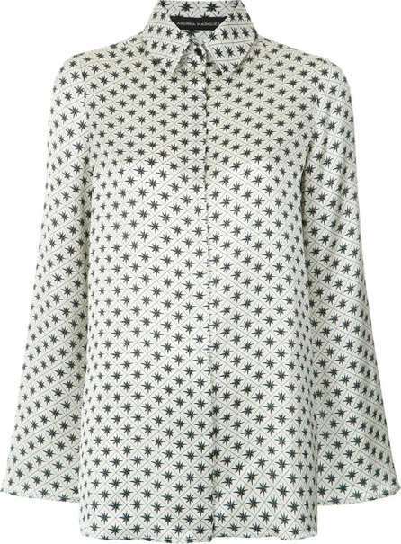 Andrea Marques Printed bell sleeves shirt