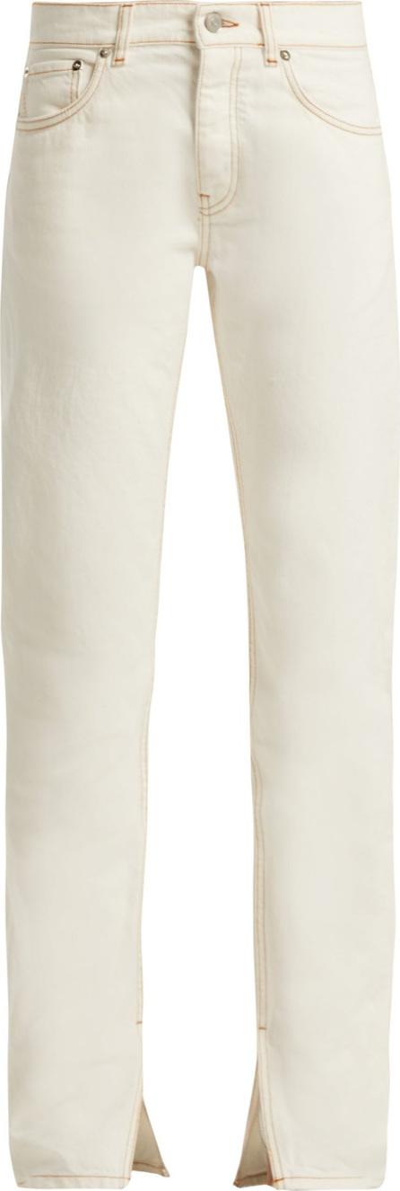 Ganni Slit-cuff straight-leg jeans