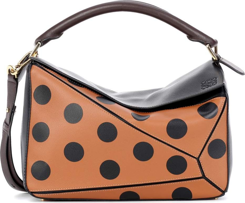 LOEWE - Puzzle dotted leather shoulder bag