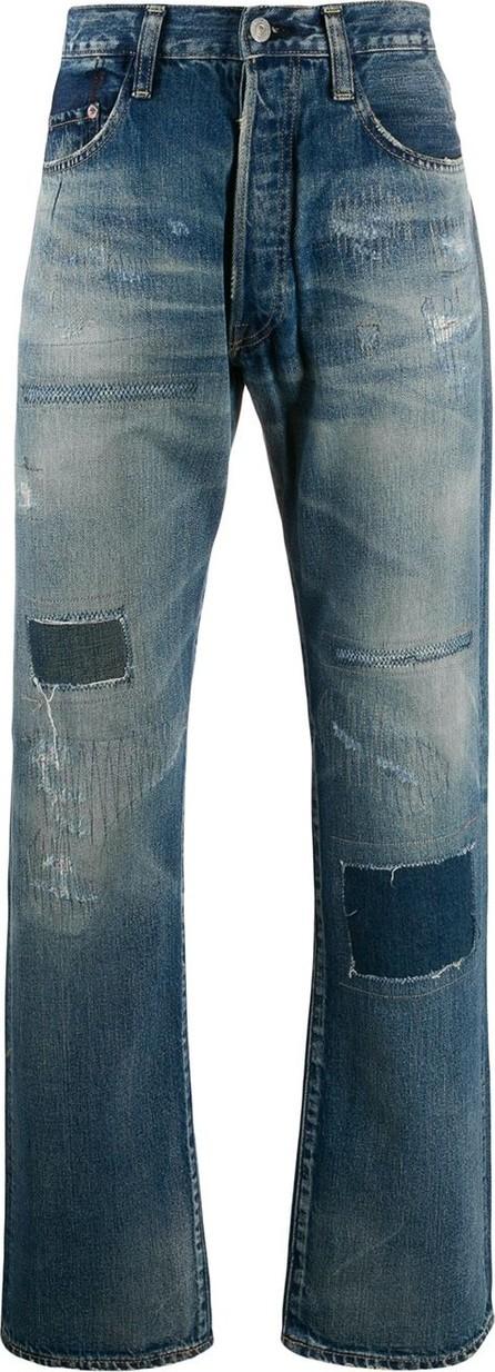 Junya Watanabe Distressed straight-leg jeans