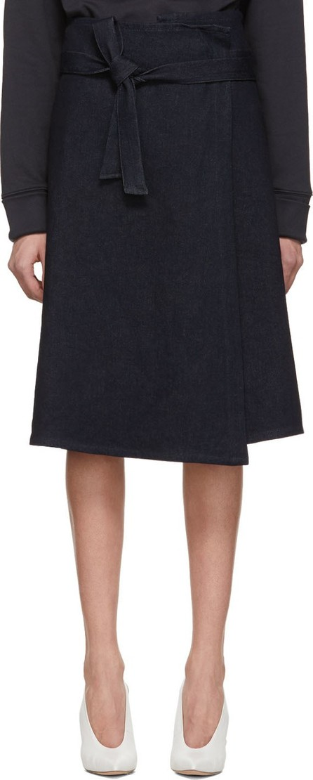 A_Plan_Application Blue Denim Wrap Skirt