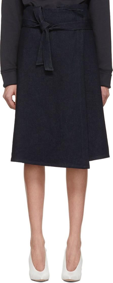 A_Plan_Application Blue Denim Wrap Skirt