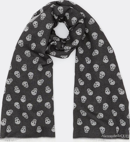 Alexander McQueen All Over Skull wool-silk scarf
