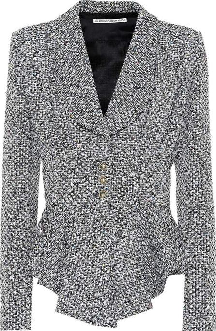 Alessandra Rich Peplum wool-blend bouclé jacket