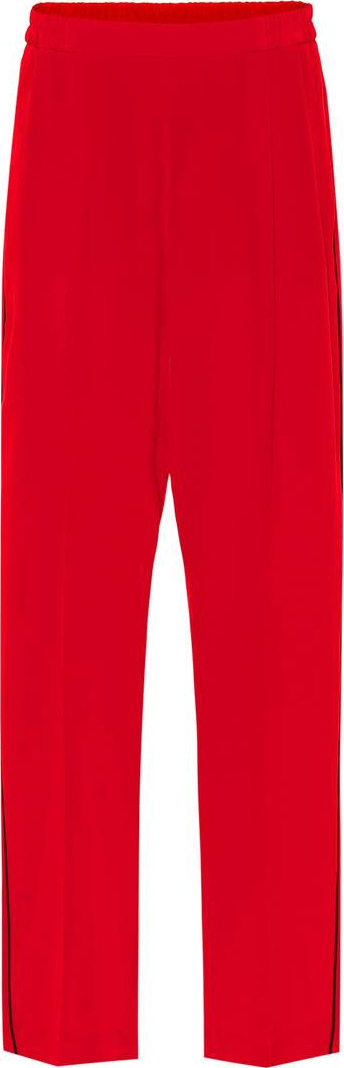 Stella McCartney Cicely silk crêpe track pants