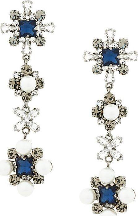 Ermanno Scervino crystal embellished drop earrings
