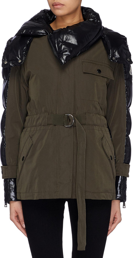 Moncler Belted down puffer back twill military jacket