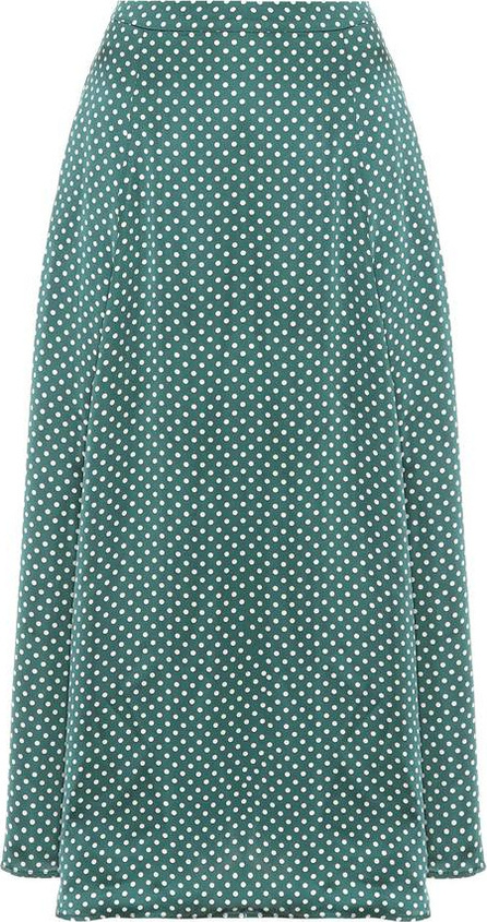Alexachung Polka-dotted satin skirt