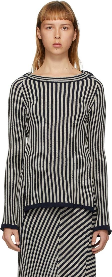 Eckhaus Latta Grey Serpentine Stripe Sweater