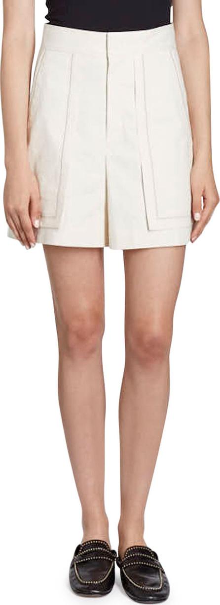 Isabel Marant Lucky High-Waist Patch-Pocket Shorts