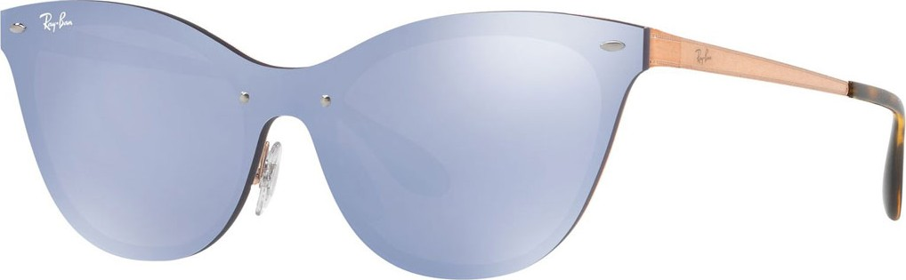9aab33aa97 Ray Ban Mirrored Shield Cat-Eye Sunglasses - Mkt