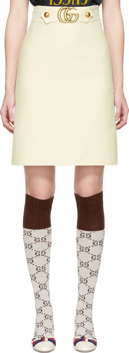 Gucci Off-White GG Belt Miniskirt