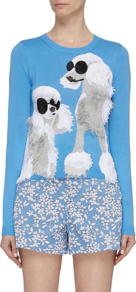Alice + Olivia 'Connie' strass poodle intarsia sweater