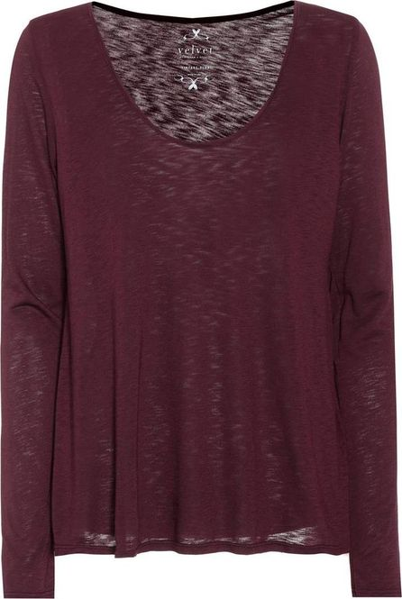 Velvet By Graham & Spencer Nadia cotton-blend top