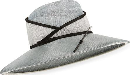 Marzi Two-Tone Large Brim Stick Hat