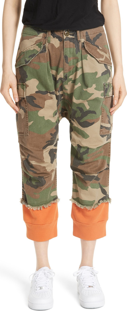 R13 Camo Harem Pants with Sweat Cuffs