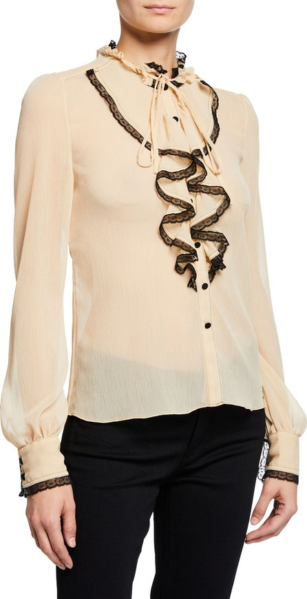 Alexis Ximena Lace Ruffle Button-Front Top