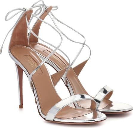 Aquazzura Linda 105 patent leather sandals