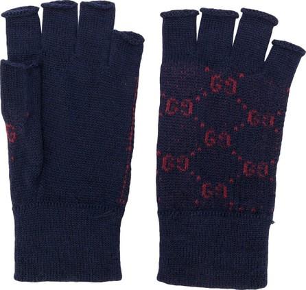 Gucci GG knit fingerless gloves