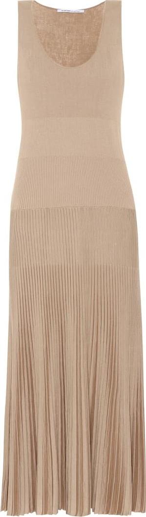 Agnona Cotton and silk knit maxi dress
