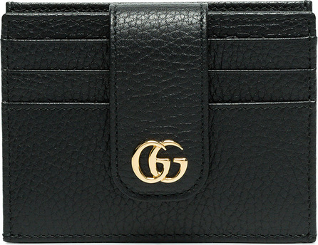 Gucci Black GG marmont leather cardholder